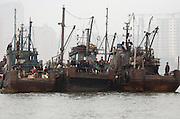 Several North Korean fishing boats, carring cargo arrive at Sunuiju port in the North Korean border town Ocotber 10, 2006. DPRK, north korea, china, dandong, border, liaoning, democratic, people's, rebiblic, of, korea, nuclear, test, rice, japan, arms, race, weapons, stalinist, communist, kin jong il