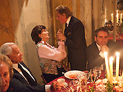 JACQUELINE DE RIBES; VALENTINO, Dinner for Jacqueline de Ribes after Legion d'honneur award. 50 Rue de la Bienfaisance. Paris.