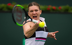 March 10, 2019 - Indian Wells, USA - Simona Halep of Romania in action during her third-round match at the 2019 BNP Paribas Open WTA Premier Mandatory tennis tournament (Credit Image: © AFP7 via ZUMA Wire)