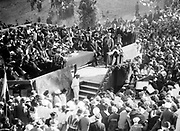 Chaim Weizmann (1874-1952), Zionist leader,  speaking at the Hebrew University, Jerusalem, Palestine, 1925. Later he became the lst President of the State of Israel.  Scientist Chemist Jewish