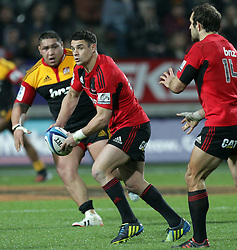 Crusaders' Dan Carter in action against the Chiefs in a Super Rugby match, Waikato Stadium, Hamilton, New Zealand, Friday, July 06, 2012.  Credit:SNPA / David Rowland