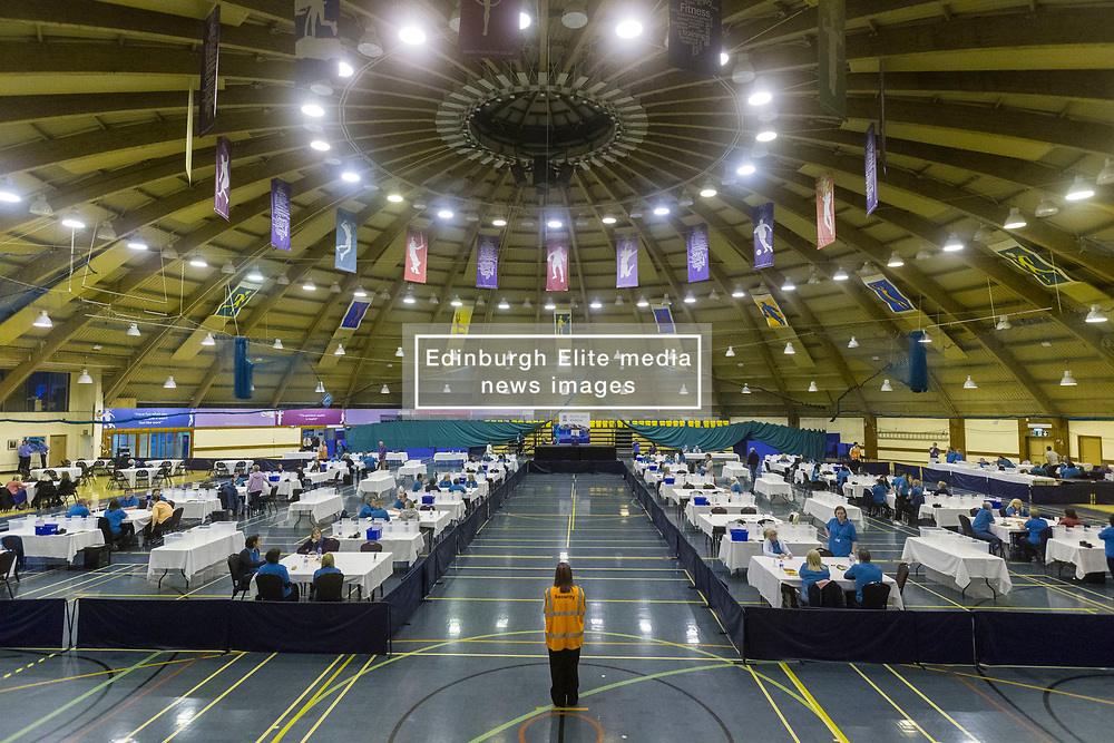 The count for the UK Parliamentary General Election 2017 for the Perth & North Perthshire Constituency takes place at Bell's Sports Centre in Perth.<br /> <br /> The four candidates standing for the seat are Peter Barrett (Scottish Liberal Democrats), Ian Duncan (Scottish Conservatives), David Roemmele (Scottish Labour) and Pete Wishart (SNP)<br /> <br /> Pictured; The count venue at Bell's Sports Centre