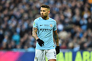 Nicolas Otamendi (30) of Manchester City during the EFL Cup Final match between Arsenal and Manchester City at Wembley Stadium, London, England on 25 February 2018. Picture by Graham Hunt.