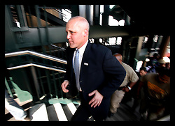22nd Feb, 2006. New Orleans, Louisiana. Running Man. Lieutenant Governor Mitch Landrieu announces his bid for mayor of New Orleans at a press conference on the banks of the Mississippi river in New Orleans.
