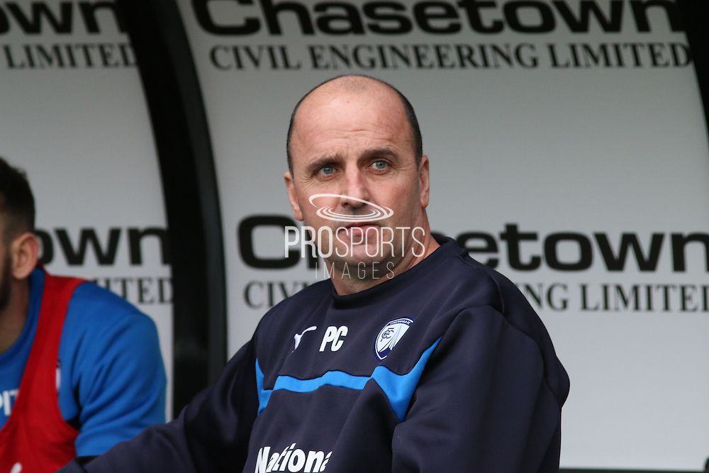 Chesterfield manager during the The FA Cup match between Derby County and Chesterfield at the iPro Stadium, Derby, England on 24 January 2015. Photo by Aaron Lupton.