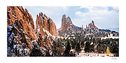 15x30 inch signed photographic print of Garden of the Gods, Colorado, North America.