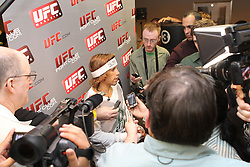 March 17, 2011; Newark, NJ; Urijah Faber works out for the media in preparation for his upcoming fight against Eddie Wineland at UFC 128 in Newark, NJ.