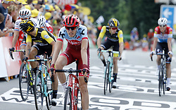 July 11, 2018 - Quimper, France - QUIMPER, FRANCE - JULY 11 : ZAKARIN Ilnur (RUS) of Team Katusha Alpecin during stage 5 of the 105th edition of the 2018 Tour de France cycling race, a stage of 204.5 kms between Lorient and Quimper on July 11, 2018 in Quimper, France, 11/07/2018 (Credit Image: © Panoramic via ZUMA Press)