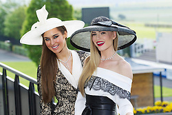 Repro Free: 04/06/2013 Top models Roz Purcell and Sarah Morrissey, wearing beautiful jewellery from by Boodles, pictured launching the Dubai Duty Free Most Stylish Lady competition. The eagerly anticipated competition will be one of the highlights of Dubai Duty Free Irish Derby Day taking place at the Curragh racecourse, Saturday, 29th June, 2013.<br /> Pre-registrations are now open at curragh.ie. For further information or to book tickets, please call (045) 441205 or visit www.curragh.ie  . Picture Andres Poveda