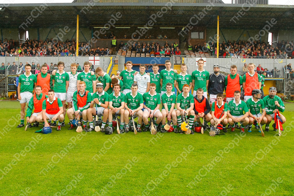 29/06/12<br /> The Limerick Panel who played Clare in the Electric Ireland Munster Minor Hurling Semi Final at Cusack Park, Ennis on Friday Evening.<br /> Pics: Don Moloney / Press 22