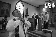 Chris & Melissa's Corrales New Mexico church wedding.