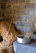 Israel, Upper Galilee, the Tel Hai museum, a display of the original room and tools used by the first settlers in 1920