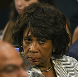 June 13, 2017 - Washington, District of Columbia, U.S - Congresswoman MAXINE WATERS (D-CA) reacts to testimony while sitting behind Attorney General Jeff Sessions at the start of the Senate Intelligence Committee hearing into allegations of Russian hacking of the election. (Credit Image: © Mark Reinstein via ZUMA Wire)