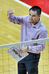 BLOOMINGTON, IL - October 12: Eric Plunkett during a college Women's volleyball match between the ISU Redbirds and the Valparaiso Crusaders on October 12 2018 at Illinois State University in Bloomington, IL. (Photo by Alan Look)
