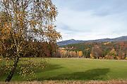 Landschaft bei St. Oswald, Rachel im Hintergrund, Bayerischer Wald, Bayern, Deutschland | Landscape with St. Oswald, Rachel in the background, national park Bavarian Forest, Bavaria, Germany