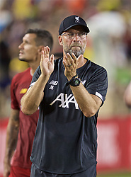 SOUTH BEND, INDIANA, USA - Friday, July 19, 2019: Liverpool's manager Jürgen Klopp applauds supporters after a friendly match between Liverpool FC and Borussia Dortmund at the Notre Dame Stadium on day four of the club's pre-season tour of America. Dortmund won 3-2. (Pic by David Rawcliffe/Propaganda)