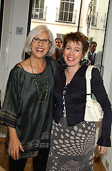 Left to right, MAGGIE KOUMI and RONNIE WHELAN at an exhibition of photographs by Robin Douglas-Home entitled 'The Sixties Set' held at The Air Gallery, 32 Dover Street, London W1 on 28th June 2005.<br /><br />NON EXCLUSIVE - WORLD RIGHTS