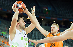 Sasa Zagorac of Slovenia during basketball match between Slovenia vs Netherlands at Day 4 in Group C of FIBA Europe Eurobasket 2015, on September 8, 2015, in Arena Zagreb, Croatia. Photo by Vid Ponikvar / Sportida