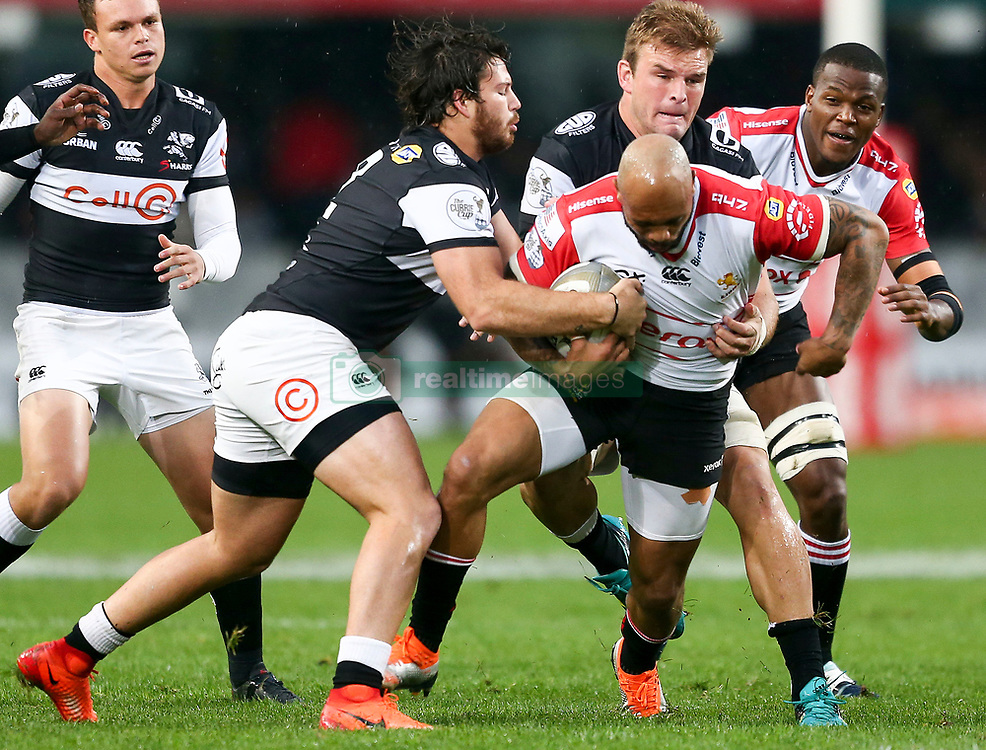 Durban. 20918. Lionel Mapoe of the Xerox Lions during the Currie Cup match between Cell C Sharks and Xerox Golden Lions XV at Jonsson Kings Park Stadium in Durban, South Africa. Picture Leon Lestrade. African News Agency. ( ANA ).