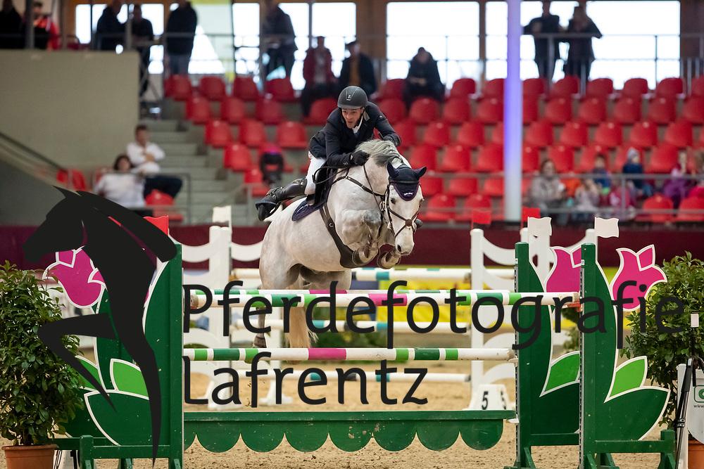 PETERS Jan (GER), Curtis 59<br /> Neustadt-Dosse - CSI 2019<br /> Preis der Hengststation Maas J. Hell GmbH<br /> Large Tour<br /> 11. Januar 2019<br /> © www.sportfotos-lafrentz.de/Stefan Lafrentz