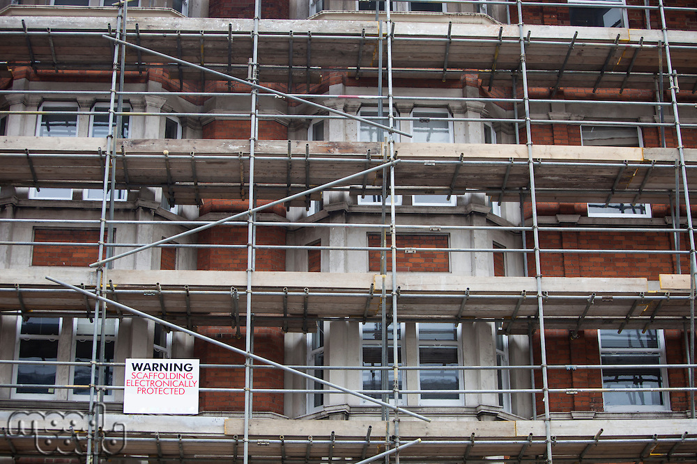 Low angle view of scaffolding