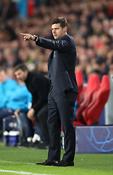 Tottenham Hotspur manager Mauricio Pochettino gestures on the touchline