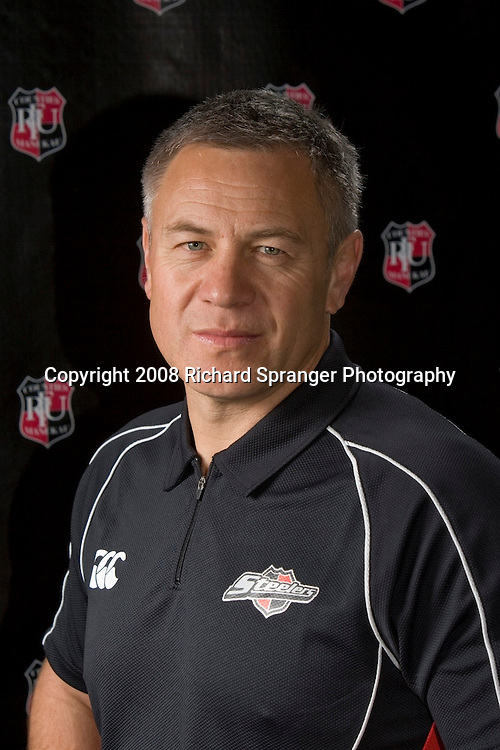 Milton Haig. Counties-Manukau Steelers ANZ Cup Rugby headshots 2008. Photo: Richard Spranger Photography/PHOTOSPORT