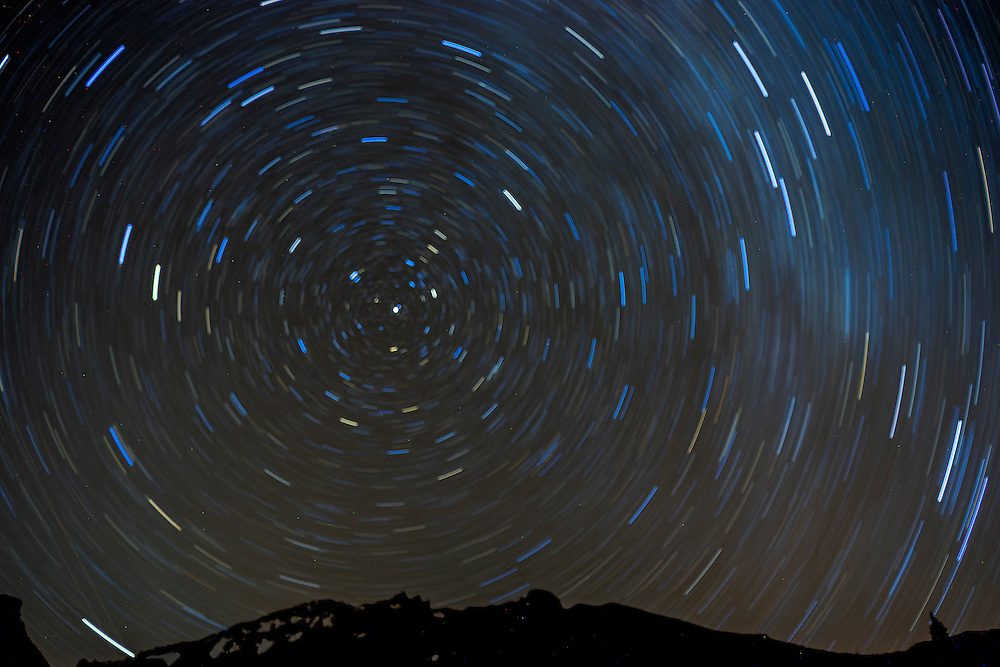 Star Trails Above Mt. Shasta, Shasta-Trinity National Forest, California, US