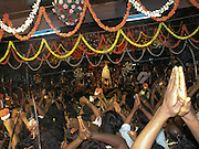 Karaga emerges from the sanctum of the Dharmarayaswamy temple