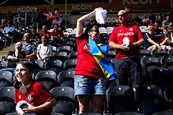 Bristol City fans catch shirts thrown by the players - Mandatory by-line: Robbie Stephenson/JMP - 24/08/2019 - FOOTBALL - KCOM Stadium - Hull, England - Hull City v Bristol City - Sky Bet Championship