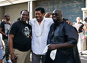 """Conrad Neblett and Herb Martin attend the Paradise Garage Party """"Larry Levan Day"""" event on King Street in New York City, New York on May 11, 2014."""