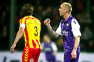Onderwerp/Subject: Go Ahead Eagles - Willem II - Jupiler League<br /> Reklame:  <br /> Club/Team/Country: Go Ahead Eagles - Willem II<br /> Seizoen/Season: 2011/2012<br /> FOTO/PHOTO: Danny GUIJT (R) of Willem II celebrating his goal and Jan KROMKAMP (L) of Go Ahead Eagles dejected ( 0 - 1 ). (Photo by PICS UNITED)<br /> <br /> Trefwoorden/Keywords: <br /> #02 #03 #17 $94 ±1324459613958<br /> Photo- & Copyrights © PICS UNITED <br /> P.O. Box 7164 - 5605 BE  EINDHOVEN (THE NETHERLANDS) <br /> Phone +31 (0)40 296 28 00 <br /> Fax +31 (0) 40 248 47 43 <br /> http://www.pics-united.com <br /> e-mail : sales@pics-united.com (If you would like to raise any issues regarding any aspects of products / service of PICS UNITED) or <br /> e-mail : sales@pics-united.com   <br /> <br /> ATTENTIE: <br /> Publicatie ook bij aanbieding door derden is slechts toegestaan na verkregen toestemming van Pics United. <br /> VOLLEDIGE NAAMSVERMELDING IS VERPLICHT! (© PICS UNITED/Naam Fotograaf, zie veld 4 van de bestandsinfo 'credits') <br /> ATTENTION:  <br /> © Pics United. Reproduction/publication of this photo by any parties is only permitted after authorisation is sought and obtained from  PICS UNITED- THE NETHERLANDS