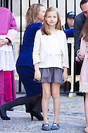 Princess Leonor attended the Easter Mass at the Cathedral of Palma de Mallorca on April 5, 2015 in Palma de Mallorca, Spain.
