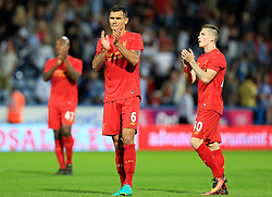 Dejan Lovren of Liverpool applauds the fans - Mandatory by-line: Matt McNulty/JMP - 20/07/2016 - FOOTBALL - John Smith's Stadium - Huddersfield, England - Huddersfield Town v Liverpool - Pre-season friendly
