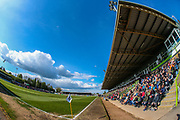 The New Lawn, home of Forest Green Rovers during the EFL Sky Bet League 2 match between Forest Green Rovers and Exeter City at the New Lawn, Forest Green, United Kingdom on 4 May 2019.