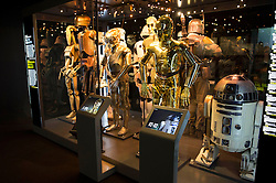 EDITORIAL USE ONLY<br /> The STAR WARS Identities: The Exhibition opens at The O2 in London, featuring over 200 props, models, costumes and artwork from the original films.