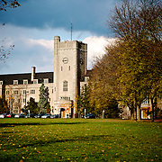 Johnston Hall is the most iconic building on the University of Guelph campus.  It sits on the edge of a large greenspace that students use to do everything from study to play sports.  Photo by Phil Maurion.