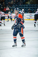 KELOWNA, CANADA - FEBRUARY 18:  Matthew Campese #11 of Kamloops Blazers warms up against the Kelowna Rockets on February 18, 2015 at Prospera Place in Kelowna, British Columbia, Canada.  (Photo by Marissa Baecker/Shoot the Breeze)  *** Local Caption *** Matthew Campese;