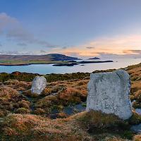 Standing Stones Valentia Island Panorama Ireland / vl117