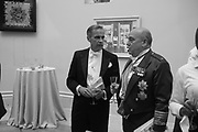 MARK CARNEY, AIR CHIEF MARSHALL SIR STUART PEACH; RA Annual dinner 2018. Piccadilly, 5 June 2018.