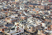 An aerial shot of Little Italy in Baltimore, MD on Sunday, April 3, 2011.