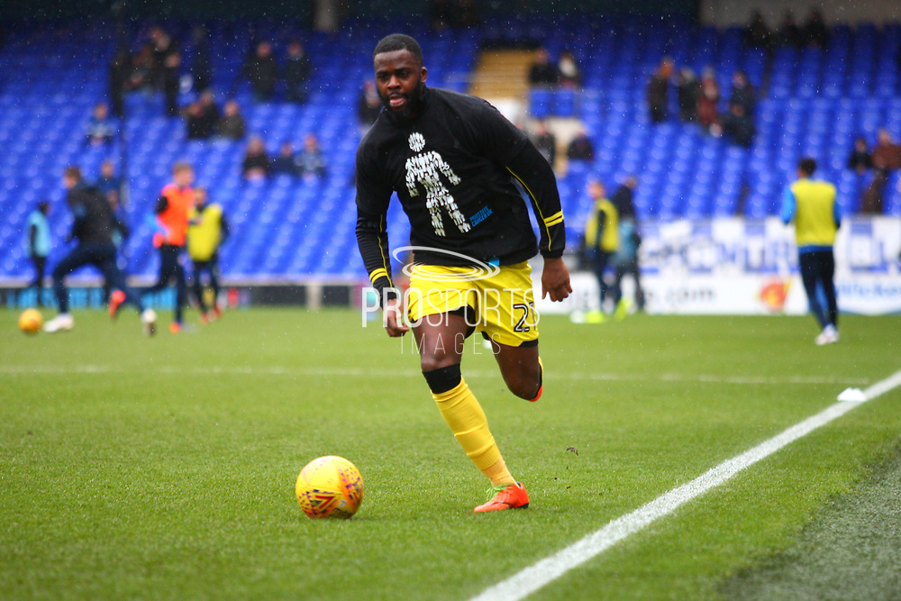 Burton Albion's Hope Akpan warms up during the EFL Sky Bet Championship match between Ipswich Town and Burton Albion at Portman Road, Ipswich, England on 10 February 2018. Picture by John Potts.