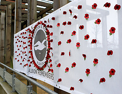 A wall of poppies for Remembrance Day tributes - Mandatory byline: Robbie Stephenson/JMP - 07966 386802 - 07/11/2015 - FOOTBALL - Falmer Stadium - Brighton, England - Brighton v MK Dons - Sky Bet Championship