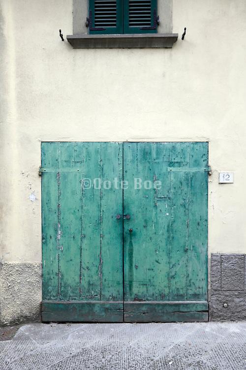 weathered double doors