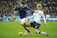 FOOTBALL - INTERNATIONAL FRIENDLY GAMES 2011/2012 - FRANCE v USA - 11/11/2011 - PHOTO JEAN MARIE HERVIO / DPPI - MATHIEU DEBUCHY (FRA) / BREK SHEA (USA)