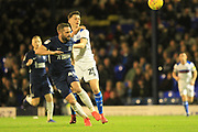 Dan Adshead battles for the ball during the EFL Sky Bet League 1 match between Southend United and Rochdale at Roots Hall, Southend, England on 22 December 2018.