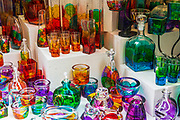 Glassware in a shop, Dubrovnik, Dalmatian Coast, Croatia