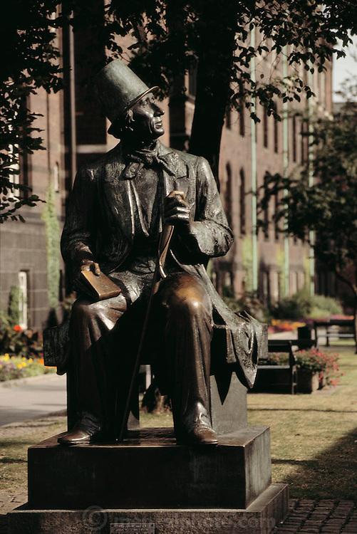 Copenhagen, Denmark. Hans Christian Andersen statue.
