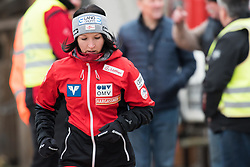 February 8, 2019 - Jacquueline Seifriedsberger of Austria warming up before first competition day of the FIS Ski Jumping World Cup Ladies Ljubno on February 8, 2019 in Ljubno, Slovenia. (Credit Image: © Rok Rakun/Pacific Press via ZUMA Wire)