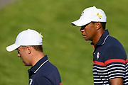Tiger Woods (Usa) during the practice round of Ryder Cup 2018, at Golf National in Saint-Quentin-en-Yvelines, France, September 27, 2018 - Photo Philippe Millereau / KMSP / ProSportsImages / DPPI